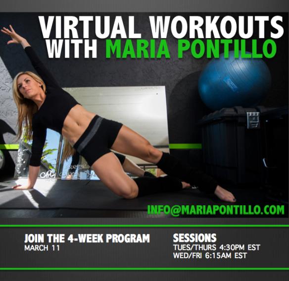Maria Pontillo virtual fitness workouts